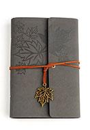 www.snowfall-beads.nl - Notitieboekje versierd met bladeren - D27560