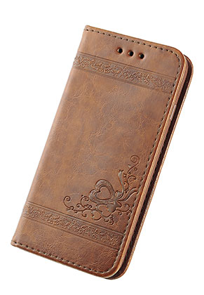 www.snowfall-fashion.co.uk - Imitation leather book case phone case for iPhone X 14,6x7,6x1,6cm
