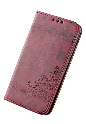 www.snowfall-fashion.nl - Imitatieleren book case telefoonhoesje voor iPhone X 14,6x7,6x1,6cm