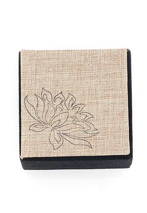 www.snowfall-perles.be - Boîte-cadeau en matière synthétique/textile 6x6x4,8cm