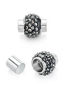 www.snowfall-beads.nl - Metalen magnetische sluiting met strass 17x15mm - D28130