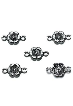www.snowfall-beads.fr - Pendentifs/entre-deux en métal fleur 18x10mm