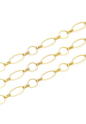 www.snowfall-beads.nl - Brass jasseron met 10mm en 16x8mm schakels