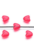 www.snowfall-beads.com - Synthetic beads heart 10,5x10mm - D28675