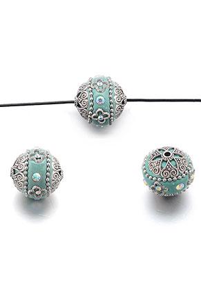 www.snowfall-beads.es - Abalorio Kashmiri de arcilla polimérica 20-21x18-19mm