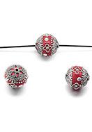 www.snowfall-beads.be - Polymeerklei Kashmiri kraal 20-21x18-19mm - D28707