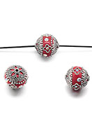www.snowfall-beads.fr - Perle Kashmiri en argile polymère 20-21x18-19mm - D28707
