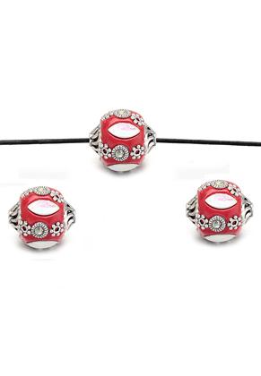 www.snowfall-beads.nl - Polymeerklei Kashmiri kraal 17x16mm
