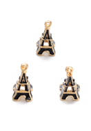 www.snowfall-beads.co.uk - Metal pendants/charms Eiffel Tower 23x10mm - D29078