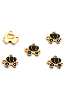 www.snowfall-beads.com - Metal pendants/charms carriage 13x12mm - D29081