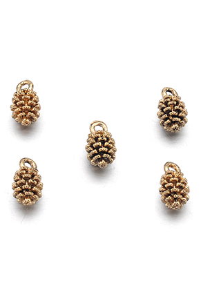 www.snowfall-beads.com - Metal pendants/charms pine cone 13x7mm