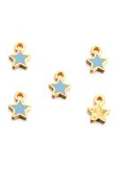 www.snowfall-beads.com - Metal pendants/charms star 9x7mm - D29104