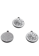 www.snowfall-beads.co.uk - Metal pendants with dandelion 29,5x26mm - D29126