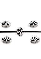 www.snowfall-beads.be - Metalen kralen lotus 16x11x4mm - D29132