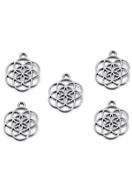 www.snowfall-beads.be - Metalen hangers Chakra bloem des levens 25x20mm - D29145