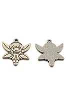 www.snowfall-beads.fr - Pendentifs en métal elfe 28x25mm - D29162