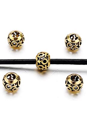 www.snowfall-beads.fr - Style grand-trou perles en métal avec symboles homme/femme 10,5x8,5mm
