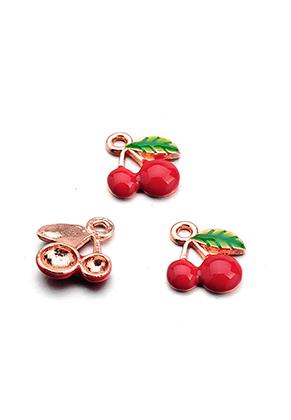 www.snowfall-beads.nl - Metalen hangers/bedels kersen 16,5x15mm
