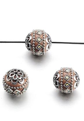 www.snowfall-beads.nl - Polymeerklei Kashmiri kraal 20-21x18-19mm