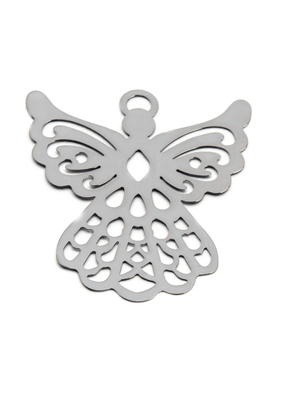 www.snowfall-beads.fr - Marque-page/pendentif en métal ange 44,5x38,5mm