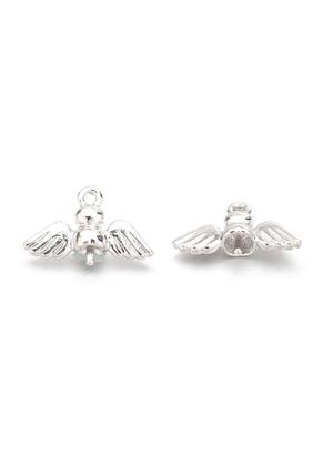 www.snowfall-beads.com - Metal pendants pin with eyelet angel 21x13,5mm