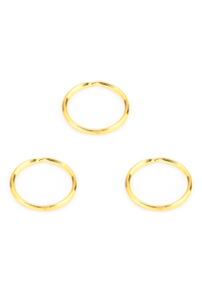 www.snowfall-beads.com - Metal key fob rings 30mm