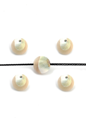 www.snowfall-beads.be - Parelmoer kralen rond 9mm