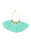 www.snowfall-beads.com - Fringe fan pendant 40x37mm - D29718
