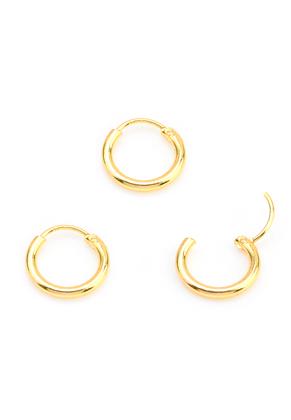 www.snowfall-beads.com - Metal earrings 12mm