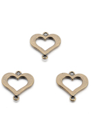www.snowfall-beads.be - Metalen hangers/tussenzetsels hartje 24x22mm - D29822