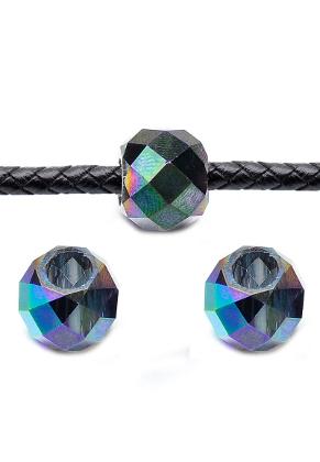 www.snowfall-beads.fr - Perles en verre cristal ovale avec facettes 14x11mm
