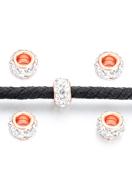 www.snowfall-beads.nl - Groot-gat-style strass kralen rondel 12x7mm - D30323