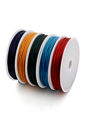 www.snowfall-beads.com - Mix wax cord 1mm (5 x 5 meter)