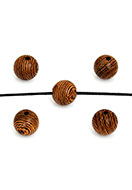 www.snowfall-beads.com - Wooden beads Wenge round 8mm - D30580