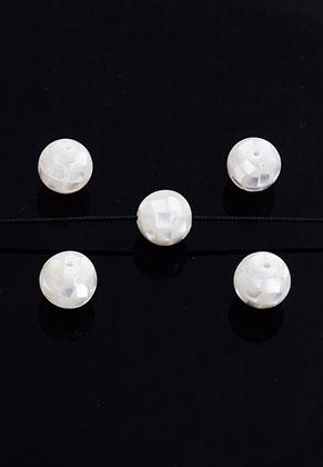 www.snowfall-beads.be - Parelmoer kraal rond 10mm