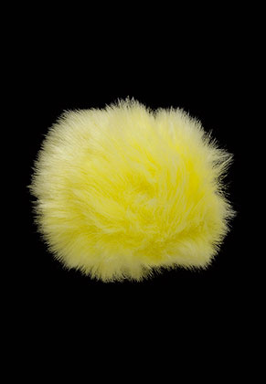 www.snowfall-beads.com - Fluff ball with elastic loop 10cm