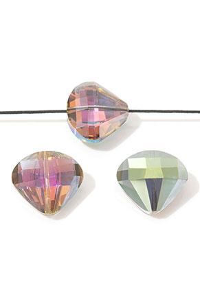 www.snowfall-beads.de - Glasperlen Kristall Diamant facette geschliffen 20x18mm