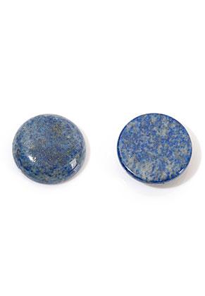 www.snowfall-beads.nl - Natuursteen plaksteen/cabochon Lapis Lazuli rond 18mm