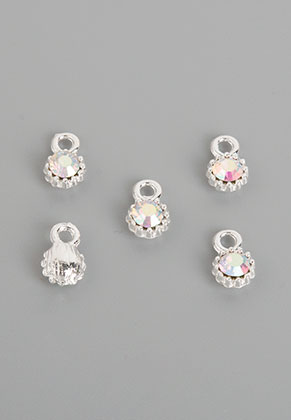 www.snowfall-beads.nl - Metalen hangers/bedels met strass 11x7mm
