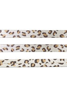 www.snowfall-beads.de - Kunstlederband mit Panthermotiv 10mm, 1,5mm dick - D31155