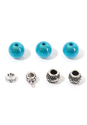 www.snowfall-beads.nl - Mix metalen/kunststof kralen 8-13x3-10mm