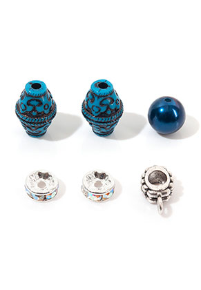 www.snowfall-beads.de - Mix Metall/Kunststoff Perlen 8-13x3-18mm