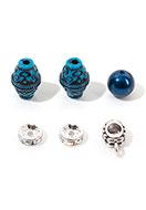 www.snowfall-beads.fr - Mélange de perles en ,étal/synthétique 8-13x3-18mm - D31190