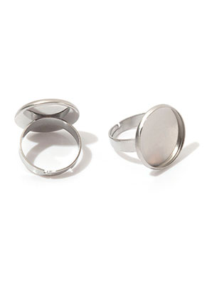 www.snowfall-beads.co.uk - Stainless steel rings >= Ø 18mm with setting for 16mm flatback