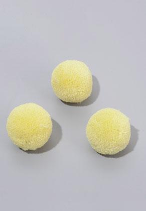 www.snowfall-beads.de - Stoff Pompons 30mm