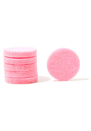 www.snowfall-beads.com - Felt Doublebeads EasySwitch discs/perfume pads round 17mm