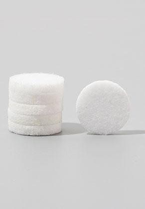 www.snowfall-beads.nl - Vilten Doublebeads schijven/parfumkussentjes rond 17mm