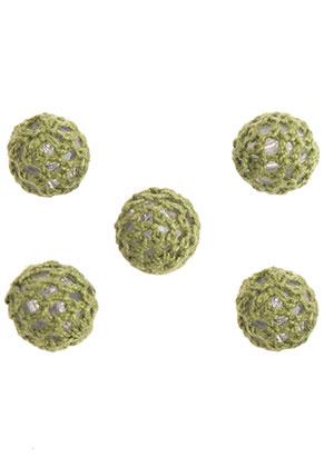 www.snowfall-beads.fr - Perles en synthétique crochetée avec du fil ronde 15mm