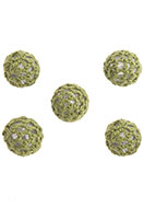 www.snowfall-beads.com - Synthetic beads crocheted with thread round 15mm - D31450