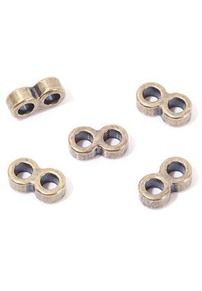 www.snowfall-beads.com - Metal dividers 2 holes 13x5,5x4mm